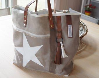 """Large bag """"Cabaret"""" piece unique original design to order"""