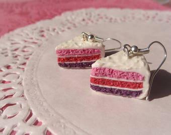 Earrings hand cake