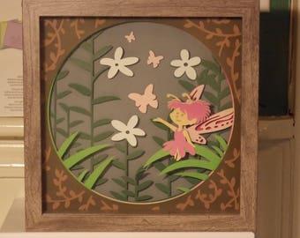 Fairy in garden - 3D picture