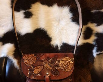 Handmade Saddle Bag Purse