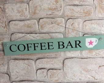 "Decorative wooden sign ""Coffeebar"""