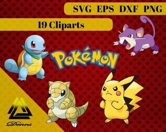 Pokemon Package 2  – 19 (Svg, Eps, Png, Jpg Files) – 300 PPI – Vectorial Images –Pokemon svg – T-Shirt Design - Mug - Gift