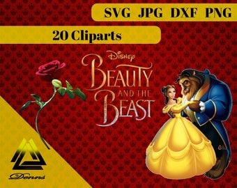 Beauty and the Beast Clipart –20 (Png, Jpg, Svg Files) – 300 PPI – Vectorial Images –Beauty and the Beast svg – T-Shirt Design - Mug - Gift