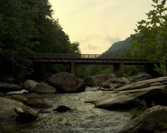 Color photography, nature photography, travel photography, fine art print, wall art, wall decor, north carolina, chimney rock
