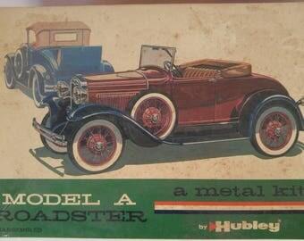 Vintage Hubleys model a roadster 1960's metal model kit