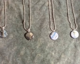 Blue Stone Marbled Necklaces