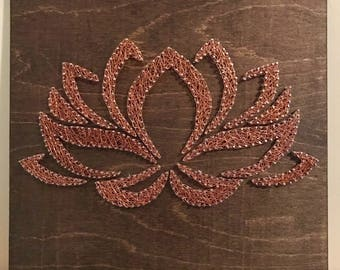 Lotus Flower Wire Art