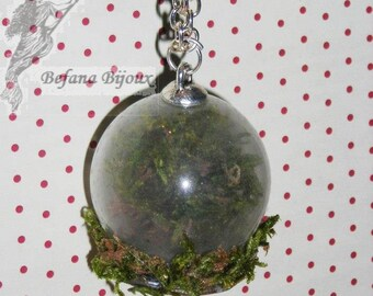 Globe necklace vegetable enchanted forest
