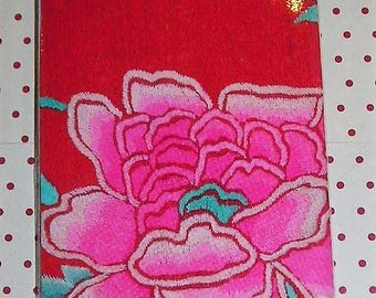 Bookmark pattern silk Chinese: pink flower