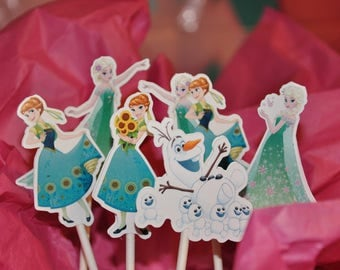 Frozen Fever Cupcake Toppers set of 12