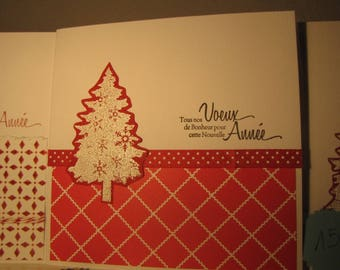 'Red gingham' greeting card