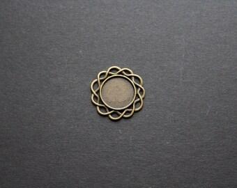 Medium bronze cabochons 20 mm original