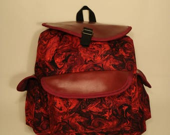 Backpack: Red and Black