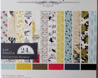 Block 24 authentic Harmony 15 x 15 paper sheets