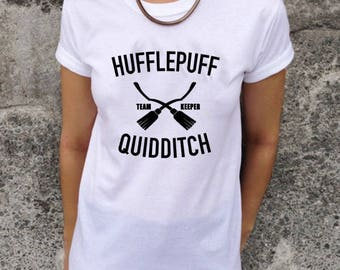 Hufflepuff Quidditch Harry Potter Style Top Tee Hogwarts T-shirt SW44