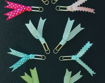 4 stunning coordinating page markers. Free p&p.