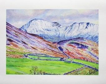 A4 Giclée Print entitled 'Ennerdale Fell' from an original watercolour painting by artist Martin Romanovsky