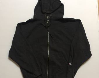 Champion Hoodie Small Logo Embroidery Black Colour
