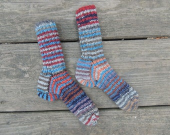 Knit Socks - Child shoe size 7-8 - Knit Wool Socks