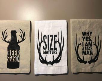 Hunting/Kitchen Humor Tea Towels