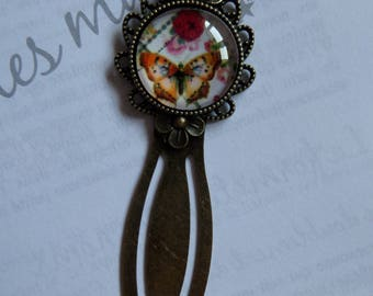 Antique bronze Butterfly bookmarks