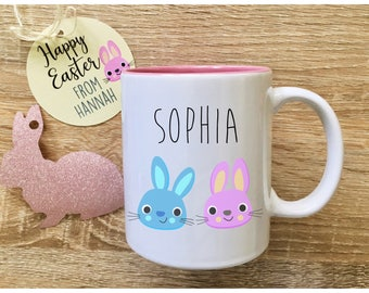 Easter gift easter mug easter cup easter basket gifts easter easter bunny mug with name easter basket stuffer personalised mug easter gift ideas australia custom mugs negle Gallery