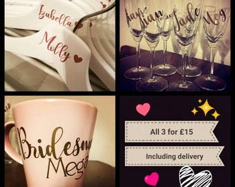 Bridesmaid bridal party bundle