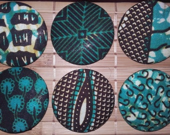 Your choice! African WAX fabric BADGE BROOCH