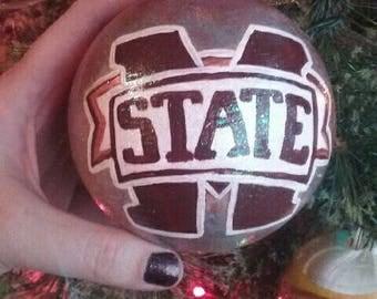 Mississippi State Bulldog ornament