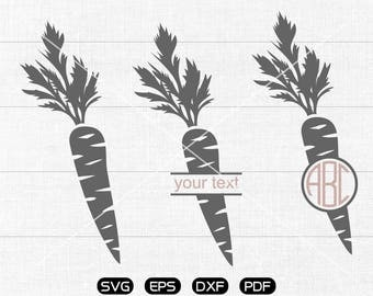 Carrot Svg, Carrot Clipart, Monogram Frame cricut, cameo, silhouette cut files commercial & personal use