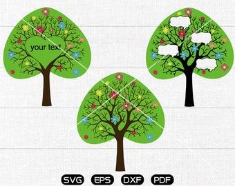 Tree SVG, Dialogue cloud Clipart, cricut, silhouette cut files commercial use