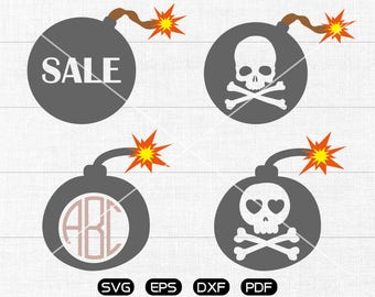 skull bomb SVG Files, sale bomb Clipart, cricut, cameo, silhouette cut files commercial &  personal use
