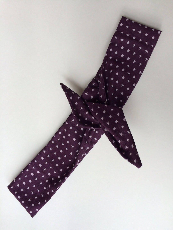 headband bandeau en tissu avec fin fil m tallique int gr. Black Bedroom Furniture Sets. Home Design Ideas