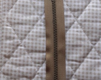 ZIP closed end zipper PRESTIL Z13 - 18cm - BEIGE 945 - Special pants man - slider Auto-bloquant