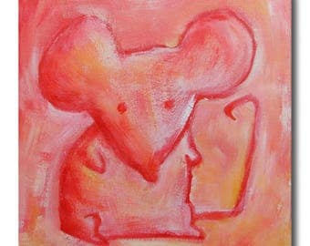 painting on canvas: Ulrich mouse
