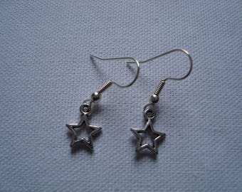 The pair of Silver Star earrings