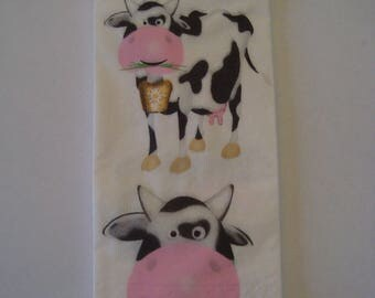 Handkerchief pattern cow paper towel