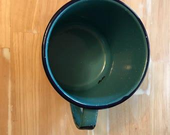 Blue Enamelware Utensil Holder