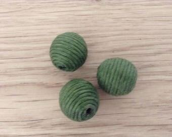 Peles textile green x 3