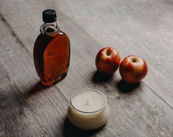 Apples and Maple Bourbon candle