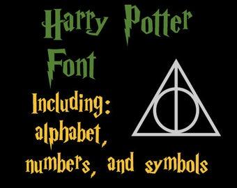 Harry Potter Font SVG Full Alphabet