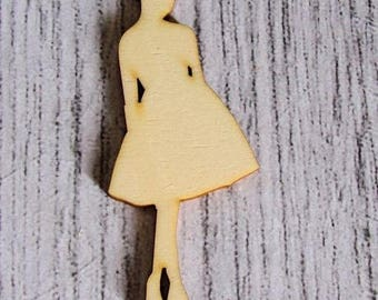 Woman 1176 embellishment wooden creations