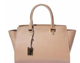 A beautiful saffiano leather handbag made in Italy.
