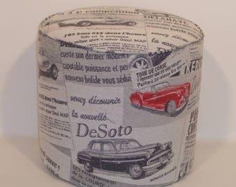 Fabric Ottoman cars American 3312 50 years