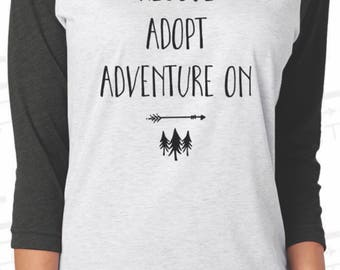 Rescue Adopt Adventure Baseball Tee