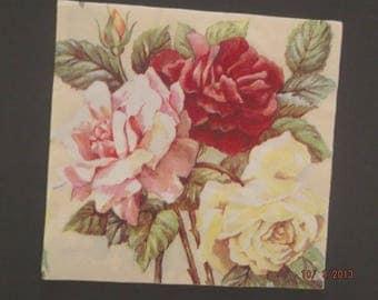 beautiful paper towel pink 30 x 30 cm