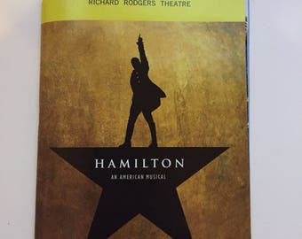 Hamilton: An American Musical Playbill