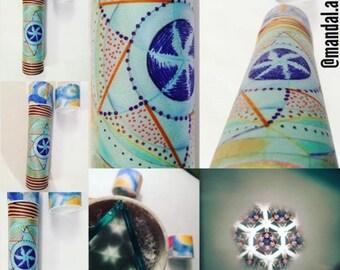 Handmade kaleidoscope, mandala 20 cm