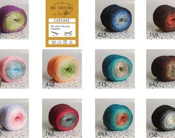 Multi coloured yarn cake cotton/acrylic 150g/600m