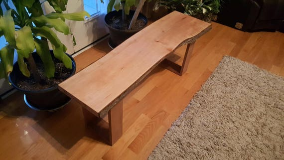 Live edge maple bench sciox Image collections